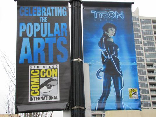 TRON Banners At San Diego Comic Con
