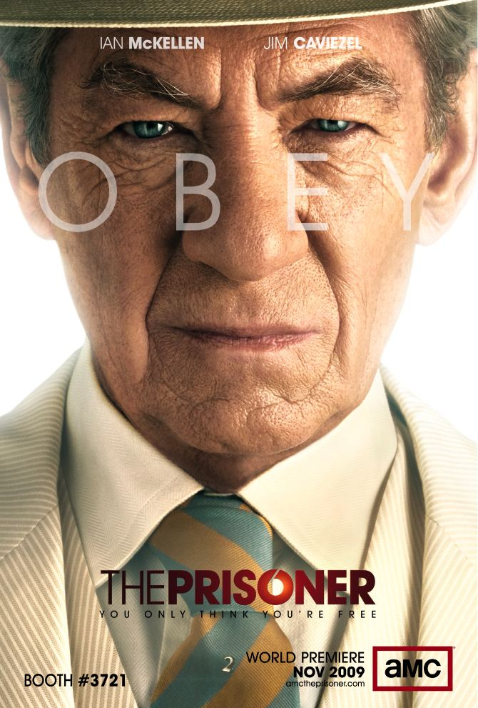 The Prisoner Ian McKellen Comic Con Poster