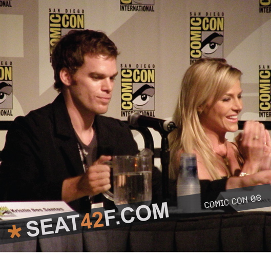 Michael C. Hall And Julie Benz On The Dexter Panel At Comic Con