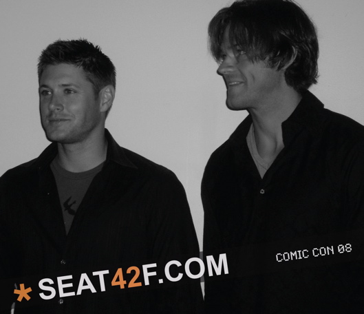 Supernatural Jensen And Jared Photos From Comic Con 2008