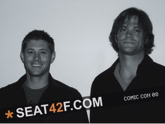 Supernatural Jensen And Jared Photo From Comic Con 2008