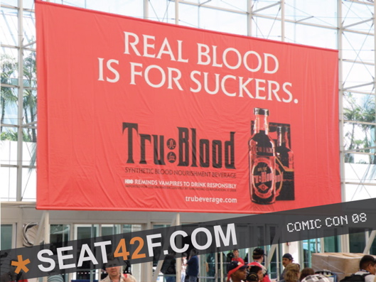 True Blood Promo Banner At Comic Con