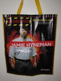 Mythbusters Jamie Comic Con Bag