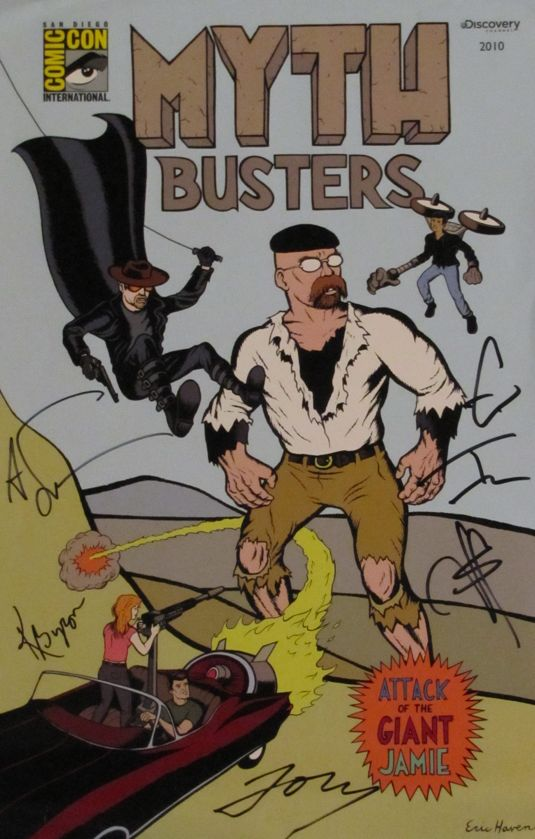 MYTHBUSTERS Signed Comic Con Poster