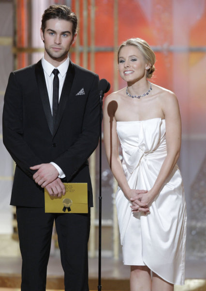 Chase Crawford Kristin Bell Golden Globes Photo