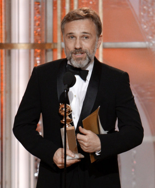 Christoph Waltz Golden Globes Photo