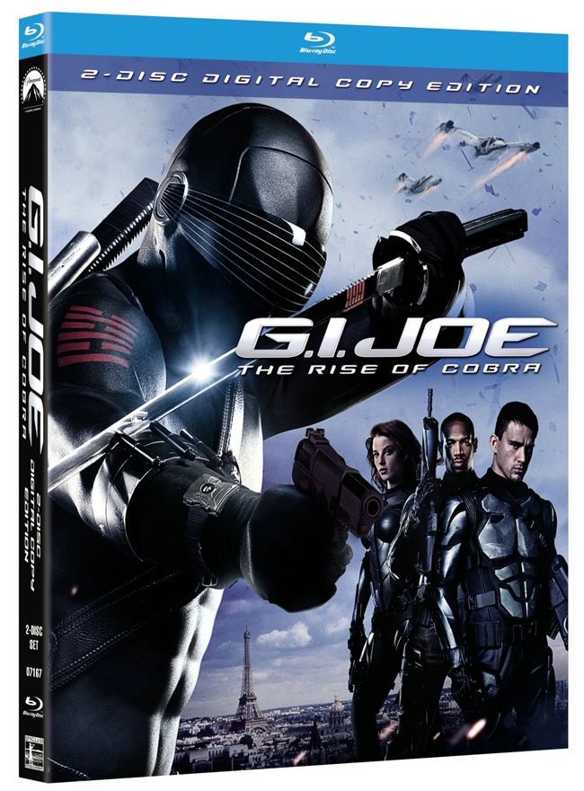 GI Joe Rise Of The Cobra Blu-ray Disc Cover Artwork