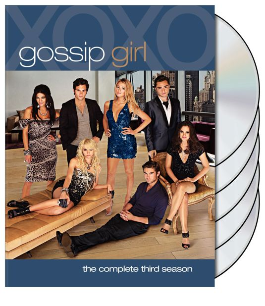 GOSSIP GIRL Season 3 DVD Cover Art