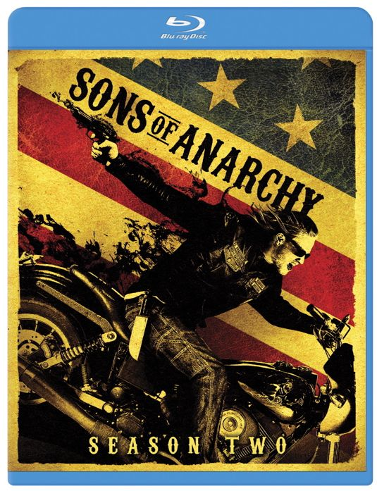 SONS OF ANARCHY SEASON 2 Blu-ray And DVD Cover Art