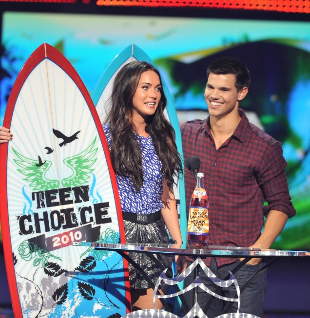 Teen Choice Megan Fox and Taylor Lautner