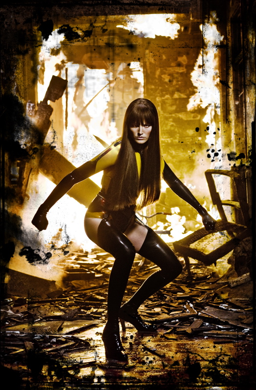 Watchmen Movie Promo Photo Of Silk Spectre