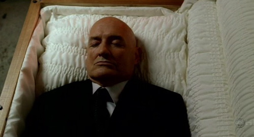 Locke In Casket As Jeremy Bentham From Lost