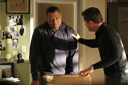 George Eads Laurence Fishburne CSI