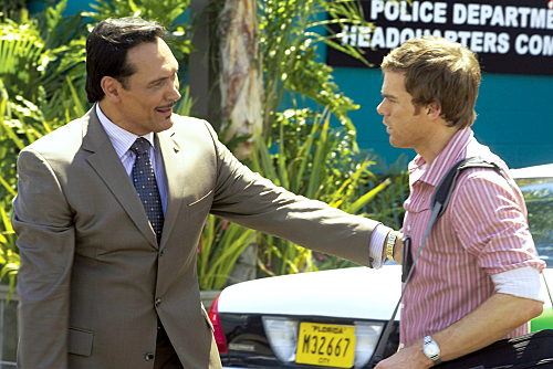Jimmy Smits and Michael C. Hall on Dexter