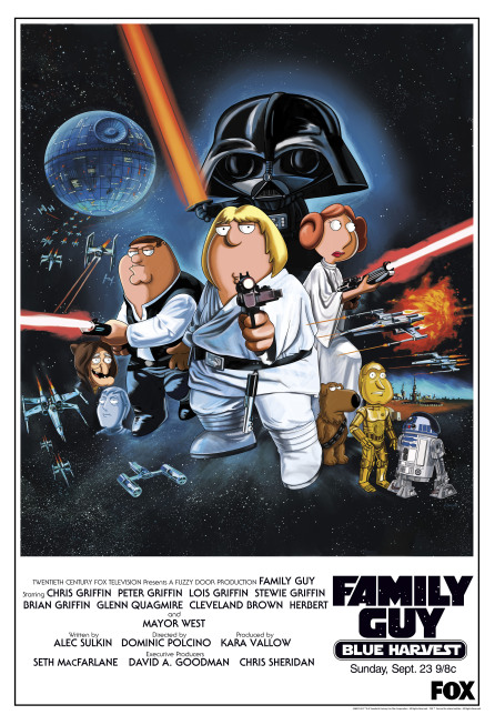 Family Guy Blue Harvest Star Wars Poster