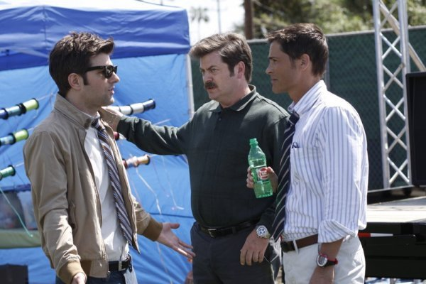Rob Lowe And Adam Scott On PARKS AND RECREATION