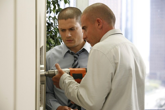 Wentworth Miller And Dominic Purcell On Prison Break