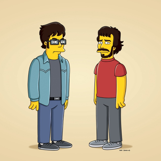 THE SIMPSONS Jemaine Clement and Bret McKenzie