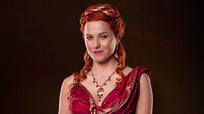 Spartacus Blood And Sand Lucretia played by Lucy Lawless