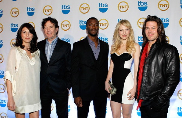 "The cast of the shot-in-Portland show Leverage at 2010's TNT/ TBS ""Upfront"" event (Photo: Seat42f.com)"