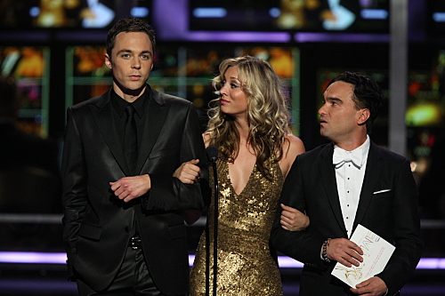 Cast Of The Big Bang Theory At The 2009 Emmy Awards