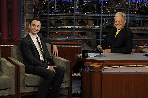 Jim Parsons David Letterman Appearance Photo