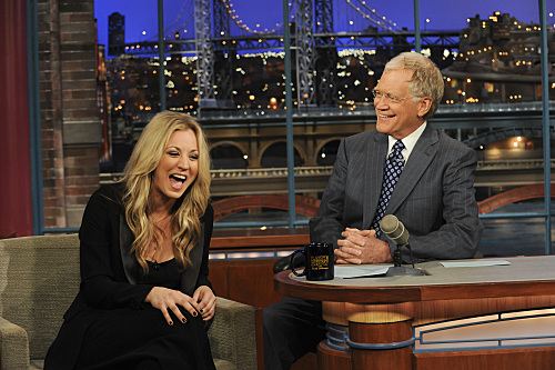Kaley Cuoco David Letterman Appearance Photo