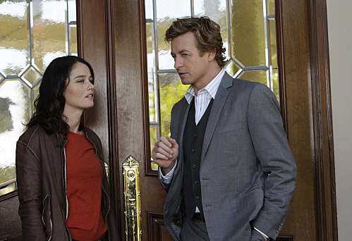 Simon Baker And Robin Tunney From The Mentalist