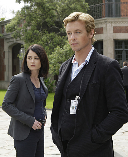 Simon Baker And Robin Tunney Mentalist Photo
