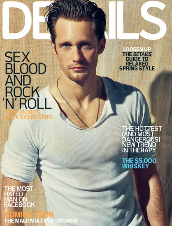 Alexander Skarsgard Details True Blood Cover