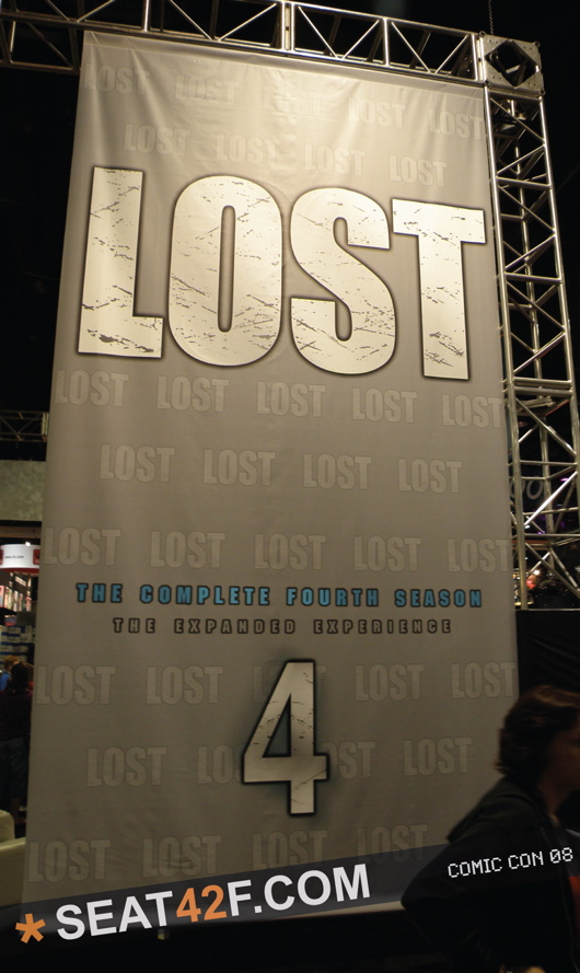 Giant Lost Season 4 DVD Banner On The Comic Con Floor