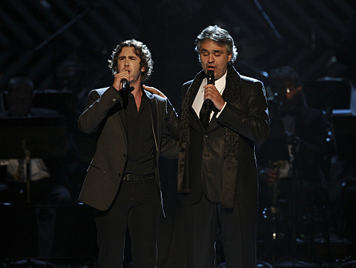 Andrea Bocelli Josh Groban Grammy Photo