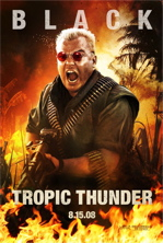 Tropic Thunder Movie Poster Featuring Jack Black