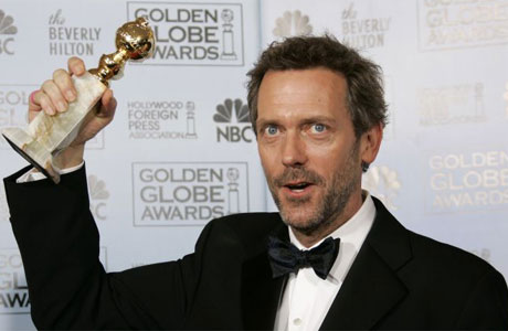 Hugh Laurie Golden Globes Photo