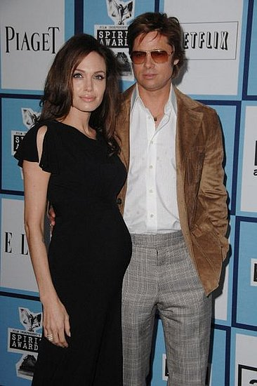 Angelina Jolie And Brad Pitt Show Off The Baby Bump