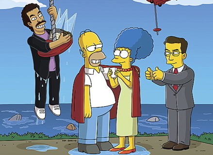 Simpsons Colbert Photo